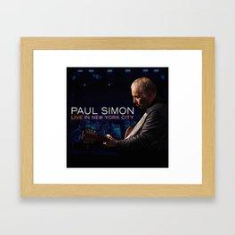 PAUL SIMON LIVE IN NEW YORK CITY TOUR DATES 2019 KAMBOJA Framed Art Print
