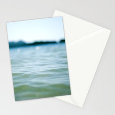 Wave Bokeh The Deep End Stationery Cards