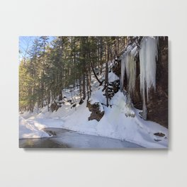 Frozen Sabbaday Falls NH (2) Metal Print