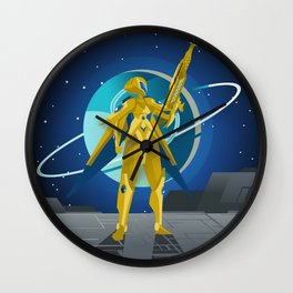 space suit science fiction soldier Wall Clock