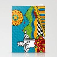 rio de janeiro Stationery Cards featuring Rio de Janeiro 2015 by Monica Fuchshuber