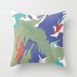Abstract Tropical Splash Throw Pillow