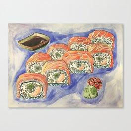 Eukaryotic Sushi Roll Canvas Print