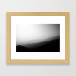 Brush Painting Mountains Framed Art Print