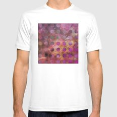 Galaxy in Purple MEDIUM White Mens Fitted Tee