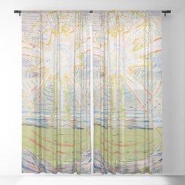 "Edvard Munch ""The Sun"", 1910–11 Sheer Curtain"