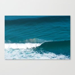 Abstract Ocean Wave with Rainbow formation in Mist Canvas Print