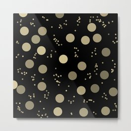 Retro Minimalism Night Rain In Moon Light Metal Print
