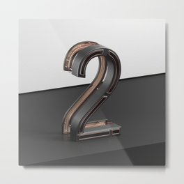 Number Two Device Metal Print