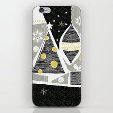 achromatic holidays iPhone & iPod Skin
