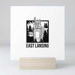 East Lansing, MI Mini Art Print