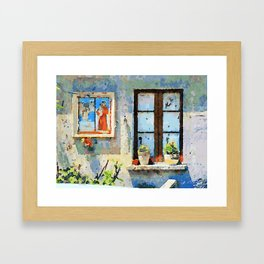 Catanzaro: saintly edicule and window Framed Art Print