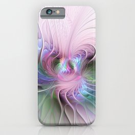 Temperament, Colorful Abstract Fractals Art iPhone Case