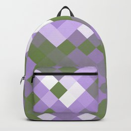 Genderqueer Pride Pixelated Angled Squares Backpack