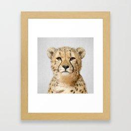 Cheetah - Colorful Framed Art Print