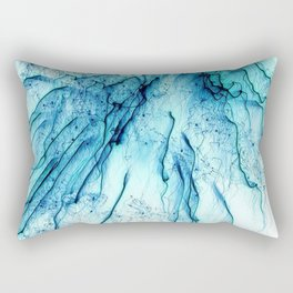 Special Fireworks, aqua Rectangular Pillow
