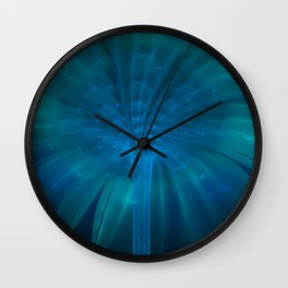 Fountain of Blue Light Wall Clock
