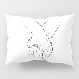Holding hands,love illustration,white background Pillow Sham
