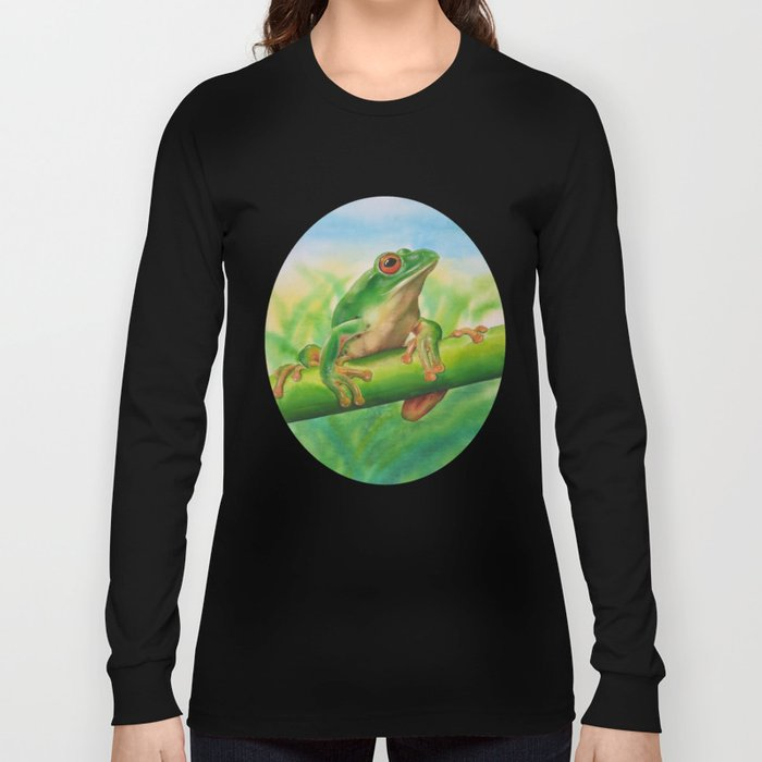 Green Treefrog Long Sleeve T-shirt