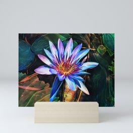 Blue Lotus Mini Art Print