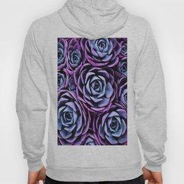 Succulent Garden Pink Purple Periwinkle Hoody