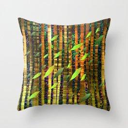 Green Jungle Breeze Throw Pillow
