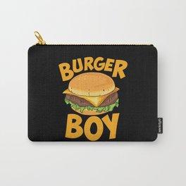 Burger Boy Loves Hamburger Carry-All Pouch
