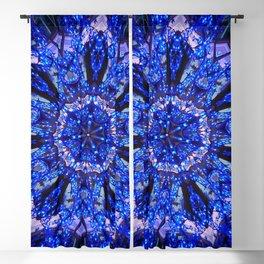 Blue Knight Starburst Mandala Blackout Curtain