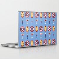 superheroes Laptop & iPad Skins featuring Superheroes by Kelslk