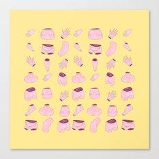 body parts yellow Canvas Print