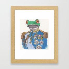 Illustrious Frog Framed Art Print
