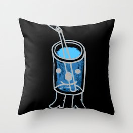 i'm a fancy beverage. Throw Pillow