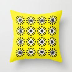 Yellow sunburst Throw Pillow