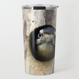A tired mom - Downy Woodpecker Travel Mug