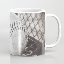 Softball on the Bench in Sepia Coffee Mug