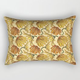 Retro 70's Golden Yellow Daisy Pattern  Rectangular Pillow