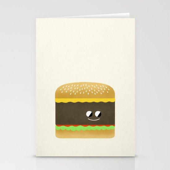 Cheesy Burger Stationery Cards