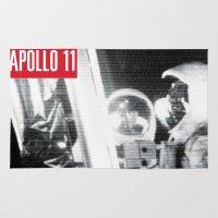 apollo Area & Throw Rugs featuring Apollo Tee by DvasaDva