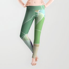 Abstract soft pastel colours pattern Leggings