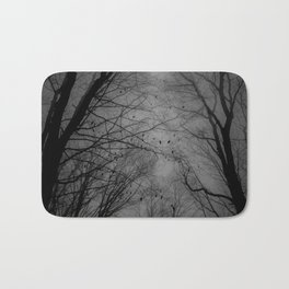 Tree of black Bath Mat