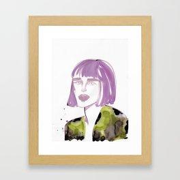 Joe with purple hair Framed Art Print