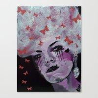 marie antoinette Canvas Prints featuring Antoinette by Clare Chapman