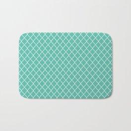 Quatrefoil - Teal Bath Mat
