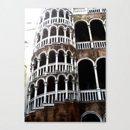 Dramatic Venetian Palace. Canvas Print
