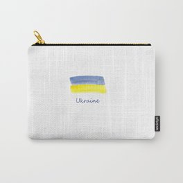 ukraine flag stripes Carry-All Pouch