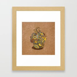 Hand-drawn doodle Art Framed Art Print