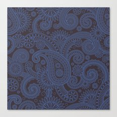 Paisley Platinum Canvas Print