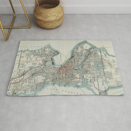 Vintage Map of Seattle Washington (1911) Rug