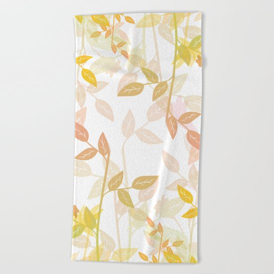 Nature Leaves Beach Towel