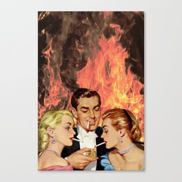 Burning For You Canvas Print